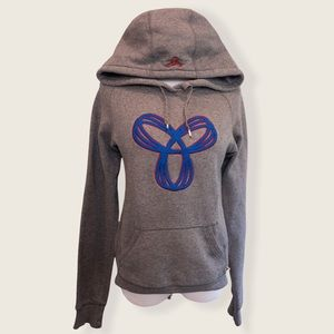 TNA Grey and Blue Embroidered Logo Hoodie - Sz XS